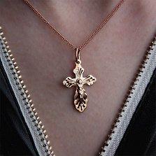 Крестик из красного золота Защитник