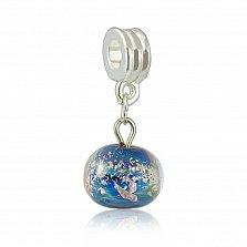 Серебряный подвес-шарм Водный мир из муранского стекла