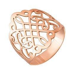 Узорное кольцо из красного золота 000126171