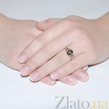 Золотое кольцо с раухтопазом Саманта AUR--31799 04