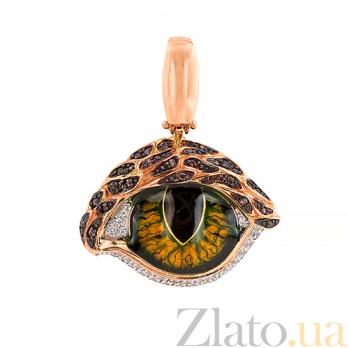 Кулон из красного золота Кошачий глаз VLT--ТТ3570-2