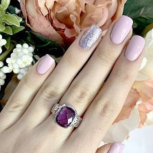 Серебряное кольцо Дебора с александритом