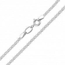 Серебряная цепочка Моник в плетении нонна, 2 мм