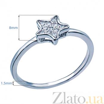 Серебряное кольцо с фианитами Звезда 000027172