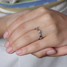 Золотое кольцо Экспериментариум в белом цвете с бриллиантами