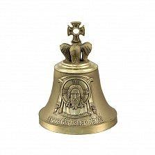 Бронзовый колокольчик Иисус Христос с молитвой на тыльной стороне