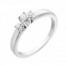 Кольцо из белого золота Изабелла с бриллиантами