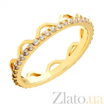 Золотое кольцо с фианитами Чезена 000022940