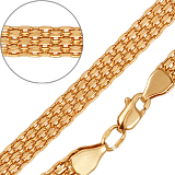 Золотой браслет Бергамо, 6мм