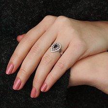 Золотое кольцо Мелинда с сапфиром и бриллиантами