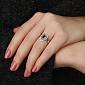 Золотое кольцо Мелинда с сапфиром и бриллиантами 000059429