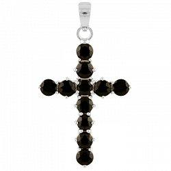 Серебряный крестик Илэрия с сапфирами