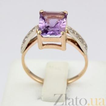 Золотое кольцо с аметистом и фианитами Айлин VLN--112-1339-4