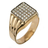 Золотое кольцо с бриллиантами Видана