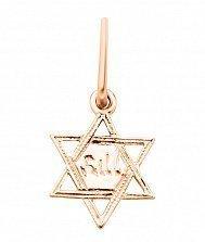 Кулон из красного золота Звезда Давида