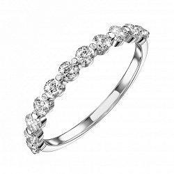 Кольцо из белого золота с фианитами 000132332