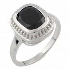 Серебряное кольцо Фелицата с черным ониксом
