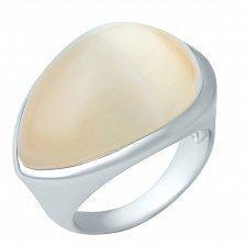 Серебряное кольцо Норма с кошачьим глазом
