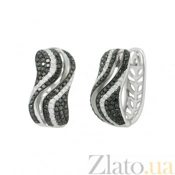 Золотые серьги с бриллиантами Ираида 1С759-0129