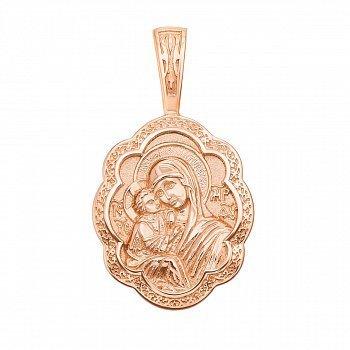 Ладанка из красного золота Божья Матерь 000134766