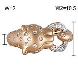Кольцо Пантера из желтого золота с бриллиантами