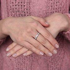 Золотое кольцо Диалектика в белом цвете с бриллиантами