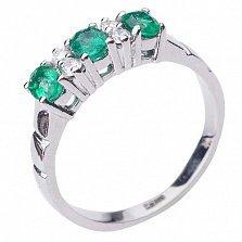 Золотое кольцо Паэнта с изумрудами и бриллиантами