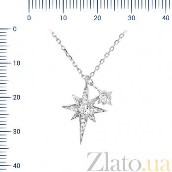 Серебряное колье Астрид с фианитами 000081684