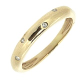 Серебряное кольцо Крис в позолоте с бриллиантами