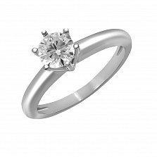 Кольцо из белого золота Единение сердец с бриллиантом