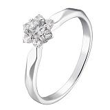 Кольцо в белом золоте Сладость с бриллиантами