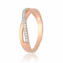 Позолоченное кольцо из серебра с фианитами Кармелла