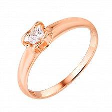 Золотое кольцо Первая любовь с бриллиантом