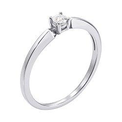 Кольцо из белого золота с бриллиантом 000117614