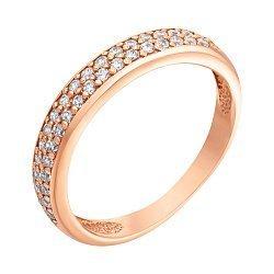 Кольцо в красном золоте с фианитами 000023296