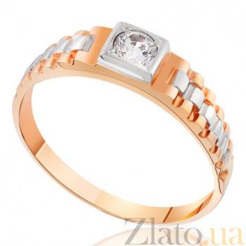 Золотое кольцо-печатка с фианитом Уильям EDM--КП009