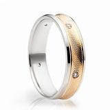 Обручальные кольца с фианитами Обретенное счастье