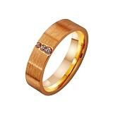 Золотое обручальное кольцо Традиции любви с фианитами