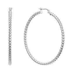 Серебряные серьги-кольца, 42мм 000136205