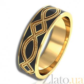 Золотое кольцо Радость жизни с черной эмалью PRT--R-PTZ-R-ml19