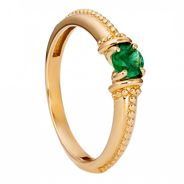 Золотое кольцо с изумрудом Ивори 000030095