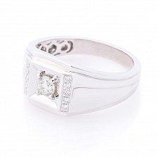 Перстень в белом золоте Всевластие с бриллиантами