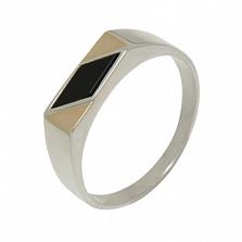 Серебряное кольцо с золотыми вставками Лорд