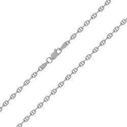 Серебряная цепочка Просперо с родием, 5 мм