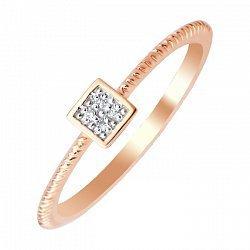Золотое кольцо Арли в комбинированном цвете с бриллиантами