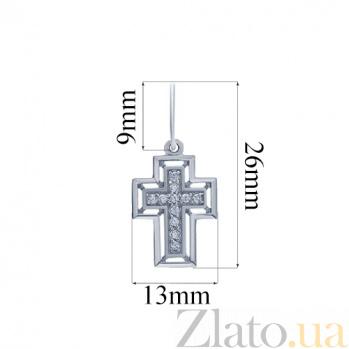 Серебряный крест  AQA--ПХд-111