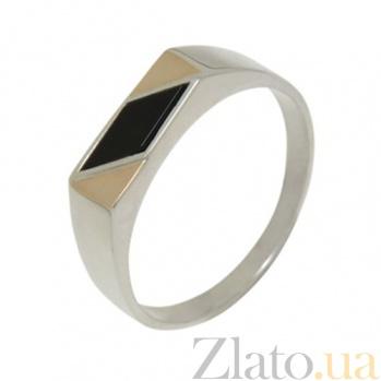 Серебряное кольцо с золотыми вставками Лорд BGS--472к