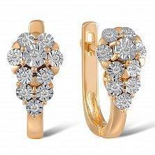 Серьги из красного золота Кристина с бриллиантами