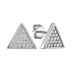 Сребряные серьги-пуссеты с фианитами 000150395