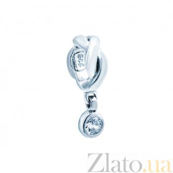 Серебряная бусина с фианитом Джесси 000027009
